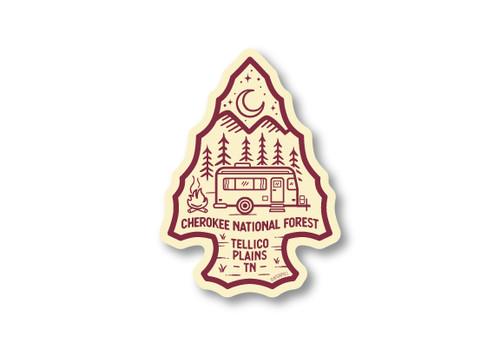 Wholesale Arrowhead Camper Die Cut Sticker
