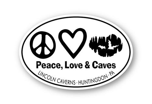 Wholesale Peace Love Caves Sticker