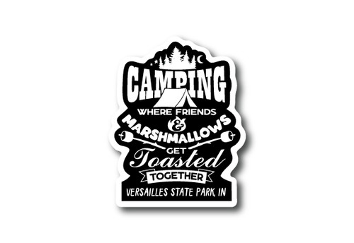 Wholesale Tent Toasted Sticker