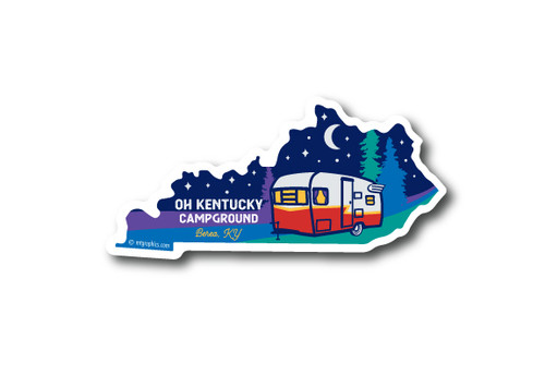 Wholesale Kentucky Camper Diecut Sticker