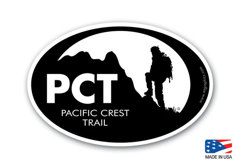 Pacific Crest Trail Hiking Sticker