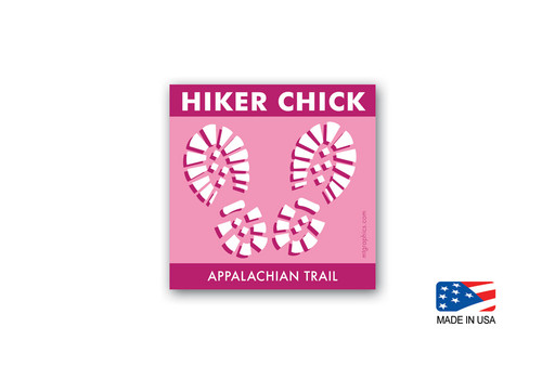 Appalachian Trail Hiker Chick Sticker