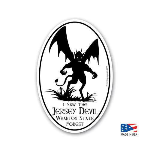 Jersey Devil Sticker 4x6 inch oval sticker