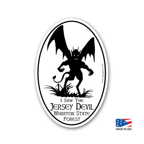 Jersey Devil Sticker 4x6 inch oval sticker