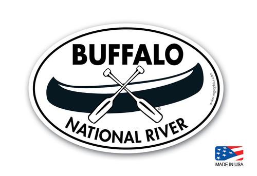 Buffalo National River Canoe Sticker