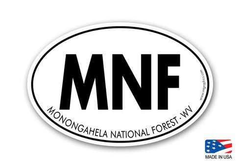 Monongahela National Forest Sticker