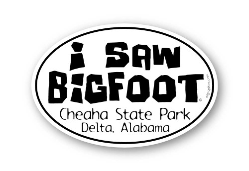 Wholesale I Saw Bigfoot Bold Type Sticker