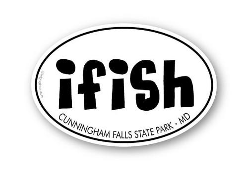 Wholesale I Fish Sticker