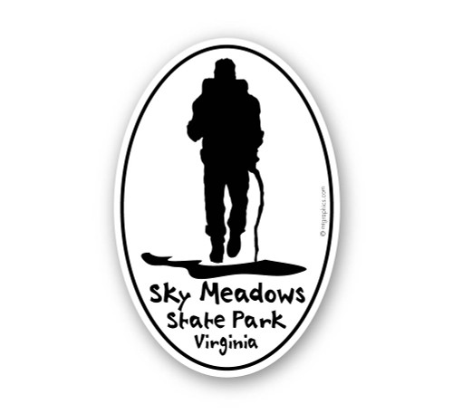 Wholesale Hiker with Hiking Stick Sticker