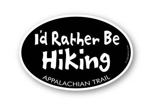 Wholesale I'd Rather Be Hiking Sticker
