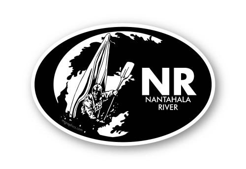 Wholesale Whitewater Kayaker Sticker