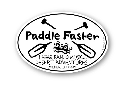 Wholesale Paddle Faster Sticker