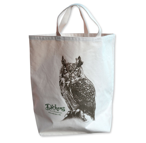 Dickens Of A Christmas Owl Tote Bag
