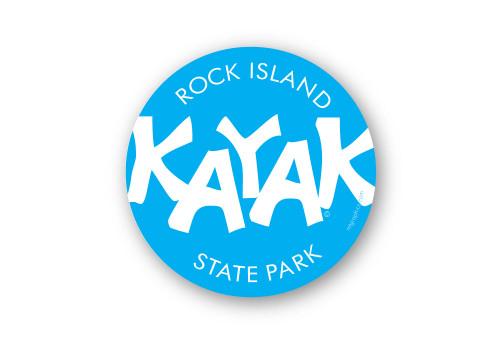 Wholesale Blue Kayak Sticker