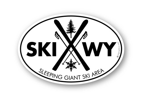 Wholesale Crossed Skis 2 Sticker