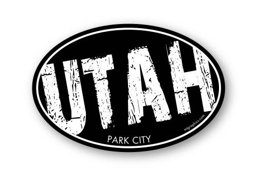 Wholesale Dark Grunge Slant Sticker