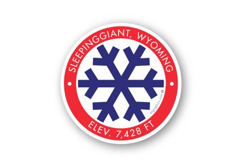 Wholesale Blue Snowflake Sticker