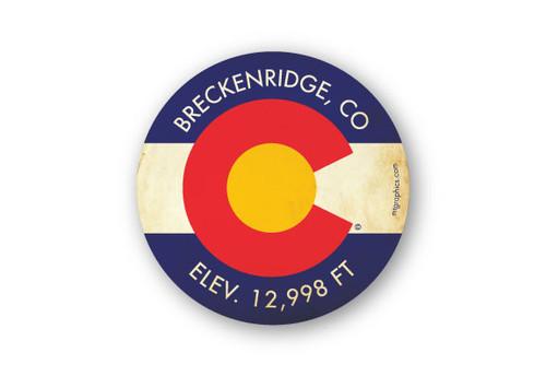 Wholesale Colorado Flag Yellow Background Sticker