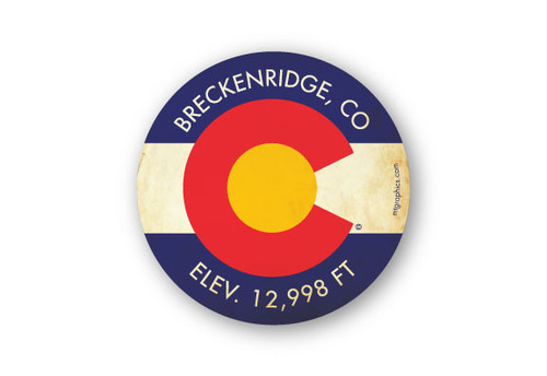 Wholesale Colorado Flag Yellow Background Sticker