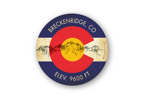 Wholesale Colorado Mountains Flag Sticker