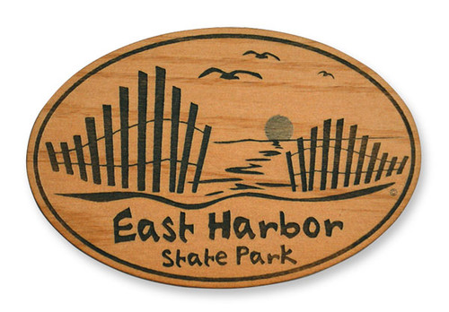 Wholesale Beach Fence Wooden Magnet