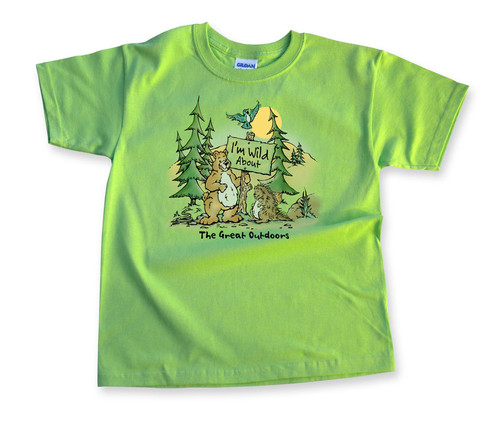 Bear Sign Kids' Camping T-shirt