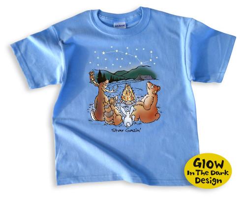 Star Gazing Kids' Camping T-Shirt