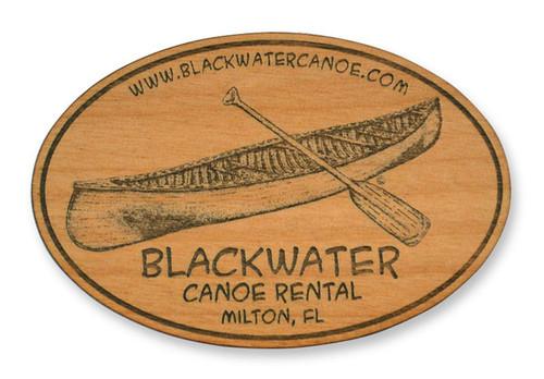 Wholesale Canoe Wooden Magnet