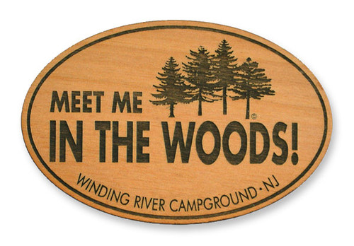 Wholesale Meet Me Wooden Magnet