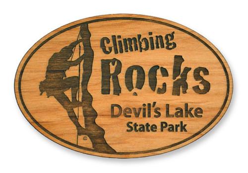 Wholesale Climbing Rocks Wooden Magnet