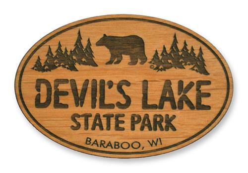 Wholesale Black Bear Wooden Magnet