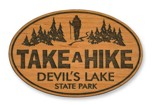 Wholesale Take A Hike Wooden Magnet
