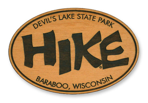 Wholesale Funky Hike Wooden Magnet