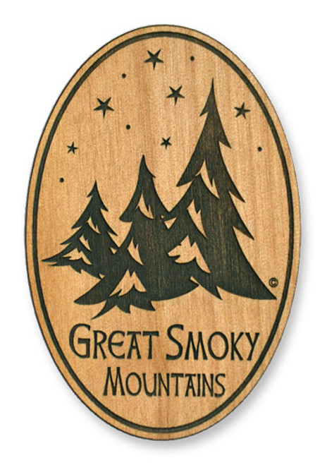Wholesale Pine Trees Wooden Magnet