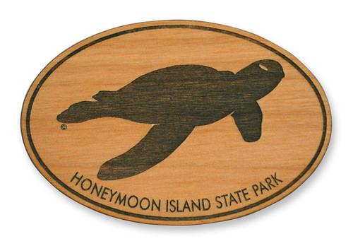 Wholesale Sea Turtle Wooden Magnet