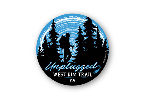 Wholesale Unplugged Hiker Sticker