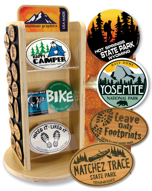 Six Tier Sticker and Magnet Display