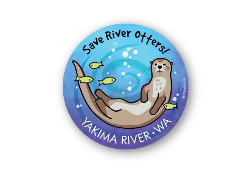 Wholesale River Otter Swimming Sticker