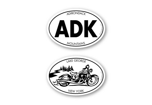 """Two 2""""x3"""" oval stickers"""