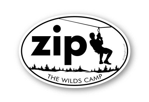Wholesale Zipline Trees Sticker