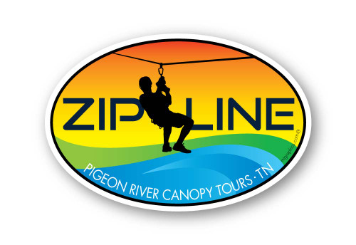 Wholesale Zipline Colorwave Sticker