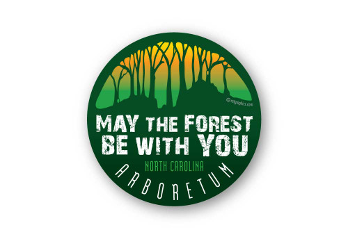 Wholesale May the Forest Round Sticker