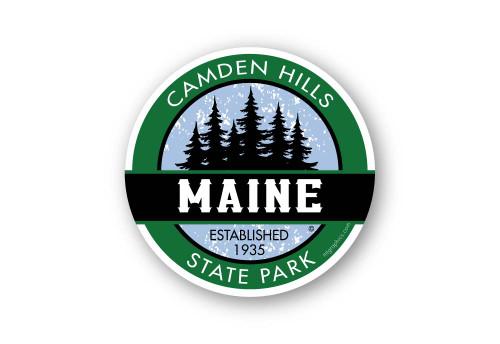 Wholesale Pine Forest Round Sticker