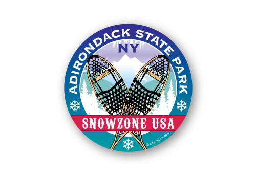 Wholesale Crossed Snowshoes Sticker