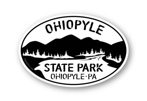 Wholesale Mountain River Sticker