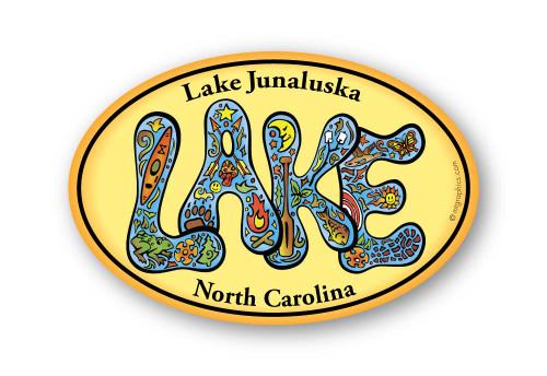 Wholesale Retro Lake Sticker