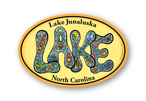 Wholesale Retro Lake Sticker
