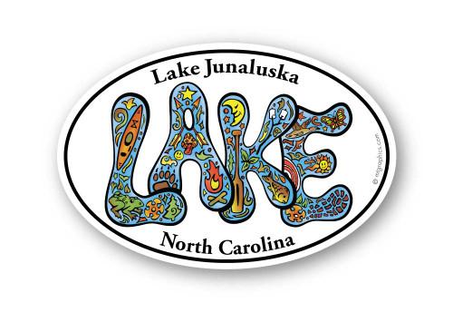 Wholesale Retro Lake White Sticker