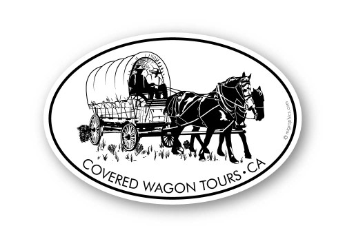 Wholesale Covered Wagon Sticker