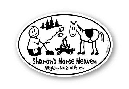Wholesale Campfire with Horse Sticker